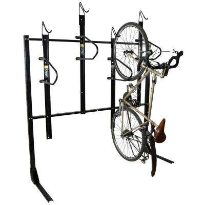 4-Bike Vertical Locking Bike Rack