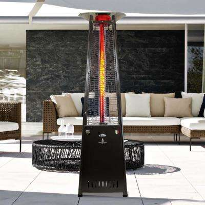 2G A-Line 66,000 BTU 8 ft. Hammered Black Gas Patio Heater