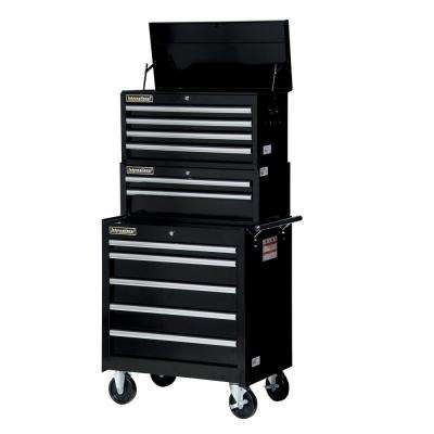 Tech Series 27 in. 11-Drawer Tool Chest and Cabinet Combo Black