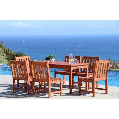Malibu 7-Piece Rectangle Patio Dining Set
