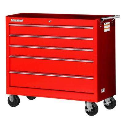 Workshop Series 42 in. 5-Drawer Cabinet, Red