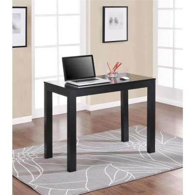 Parsons Desk with Drawer in Black
