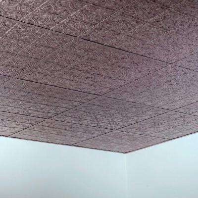 Traditional Style #1 2 ft. x 2 ft. Vinyl Lay-In Ceiling Tile in Galvanized Steel