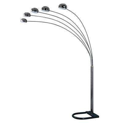 88 in. Black 5-Arch Floor Lamp