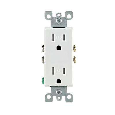 outlets receptacles dimmers switches outlets decora 15 amp tamper resistant duplex outlet white 10 pack