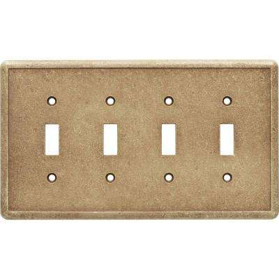 4 Toggle Wall Plate in Noche