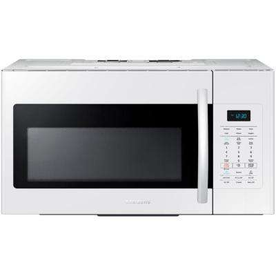 30 in. W 1.7 cu. ft. Over the Range Microwave in White with Sensor Cooking