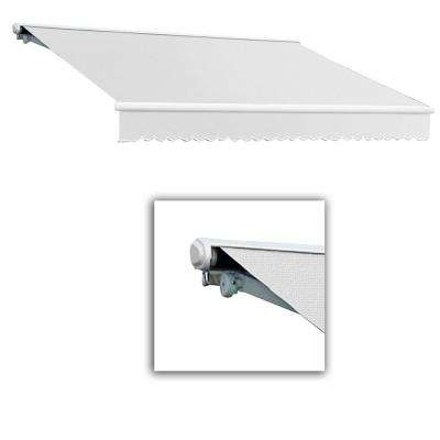 24 ft. Galveston Semi-Cassette Right Motor with Remote Retractable Awning (120 in. Projection) Off White
