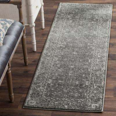 Evoke Gray/Ivory 2 ft. 2 in. x 19 ft. Runner Rug