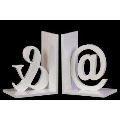 7.75 in. H Alphabet Decorative Sculpture in White Coated Finish