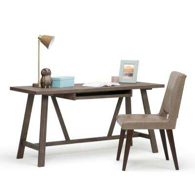 Dylan Rustic Contemporary Solid Wood Desk in Driftwood