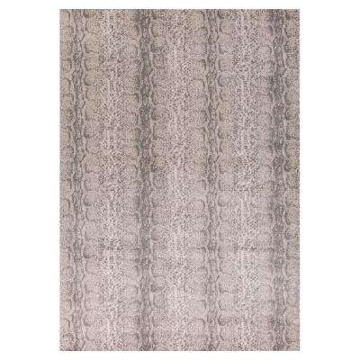 Vintage Snake Taupe 3 ft. 3 in. x 4 ft. 11 in. Area Rug