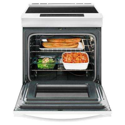 30 in. 4.8 cu. ft. Slide-In Electric Range in White