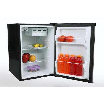 2.4 cu. ft. Mini Refrigerator in Black with Stainless Steel Door