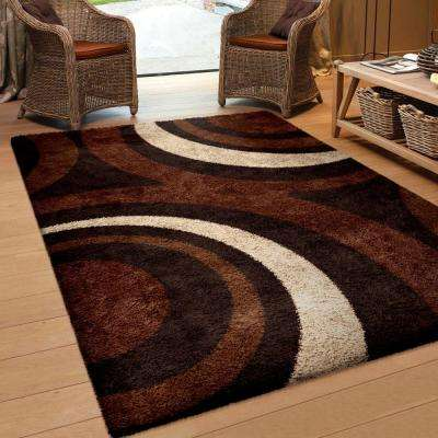 Fire Hole Mocha 8 ft. x 11 ft. Indoor Area Rug