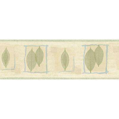 8 in. x 10 in. Green and Blue Transitional Leaf Border Sample