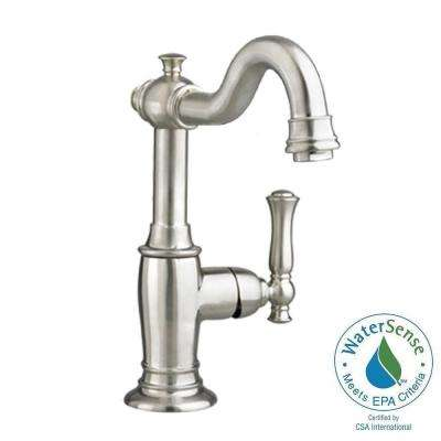 Quentin Monoblock Single Hole Single Handle Bathroom Faucet in Brushed Nickel