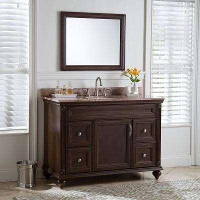 Annakin 48 in. W x 34 in. H x 22 in. D Bath Vanity Cabinet Only in Cognac