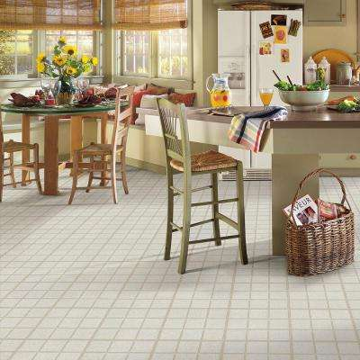 Bardwin-Almond 12 in. x 12 in. 4 in. Paver Residential Peel and Stick Vinyl Tile Flooring (45 sq. ft. / Case)