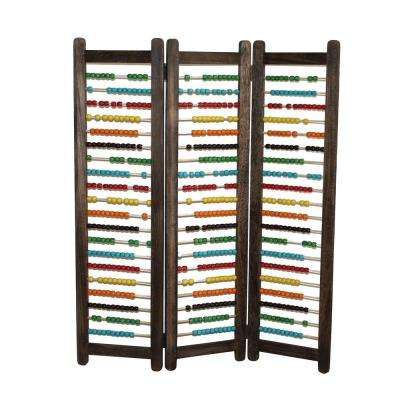 Abacus 3.5 ft. Multi-color 3-Panel Room Divider