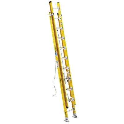 20 ft. Fiberglass D-Rung Extension Ladder with 375 lb. Load Capacity Type IAA Duty Rating