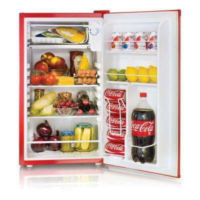 Coca-Cola 3.2 cu. ft. Mini Refrigerator in Red