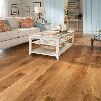 Castlebury Natural Eurosawn Oak 3/8 in. T x 6 in. W x Random Length Click Eng Hardwood Flooring (26.5 sq. ft. / case)