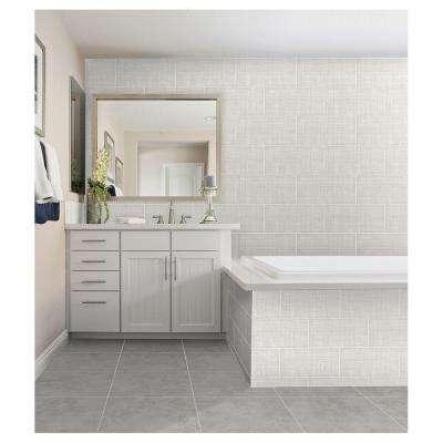 Meier Park Silver Strand 3 in. x 12 in. Glazed Ceramic Floor and Wall Bullnose Tile (0.25 sq. ft. / piece)