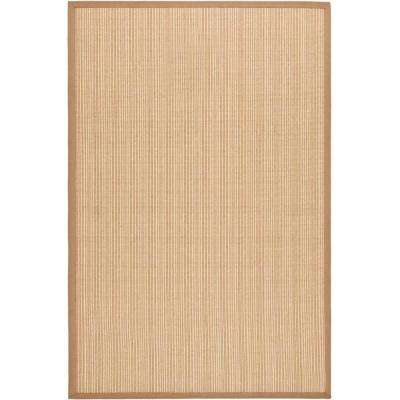 Natural Fiber Tan 7 ft. 6 in. x 9 ft. 6 in. Area Rug