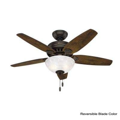Cedar Park 44 in. Indoor Premier Bronze Ceiling Fan with Light Kit