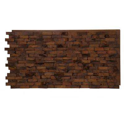 Teak Faux Wood Panel 1-1/4 in. x 48 in. x 24 in. Amber Polyurethane Interlocking Panel