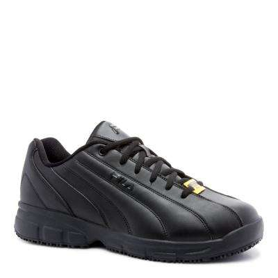 Memory Niteshift Men Black Synthetic Soft Toe Work Shoe
