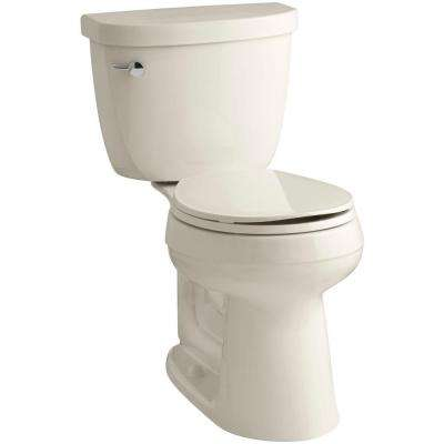 Cimarron Comfort Height 2-piece 1.6 GPF Round Toilet with AquaPiston Flush Technology in Almond