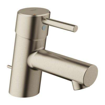 Concetto Single Hole Single-Handle Bathroom Faucet with Drain Assembly in Brushed Nickel