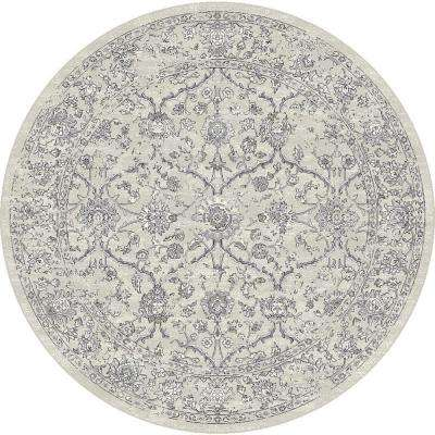 Ancient Garden Grey/Silver 5 ft. 3 in. Round Area Rug