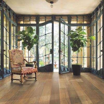 French Oak Santa Barbara 1/2 in. T x 7.5 in. W x Varying Length Engineered Click Hardwood Flooring (23.44 sq. ft./case)
