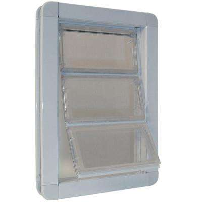 10.25 in. x 15.75 in. Extra Large Premium Draft Stopper Aluminum Frame Door with Flexible Hard Flap