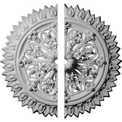 24-3/4 in. O.D. x 1-3/8 in. I.D. x 3-1/4 in. P Lariah Ceiling Medallion (2-Piece)