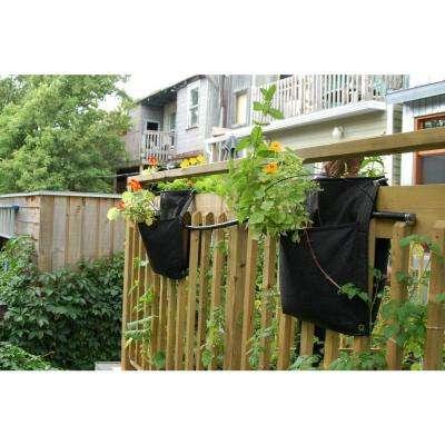 Smart Wall Flower Black Fabric Vertical Planter