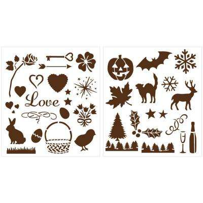Holiday Icons Laser-Cut Stencils