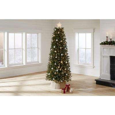 7.5 ft Jackson Noble Fir Slim LED Pre-Lit Artificial Christmas Tree with 700 Color Changing Micro Dot Lights