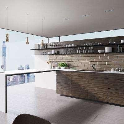 Drop-In Quartz 33 in. Single Basin Kitchen Sink in Umber