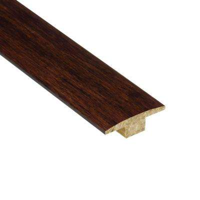 Strand Woven Sapelli 7/16 in. Thick x 2 in. Wide x 78 in. Length Bamboo T-Molding
