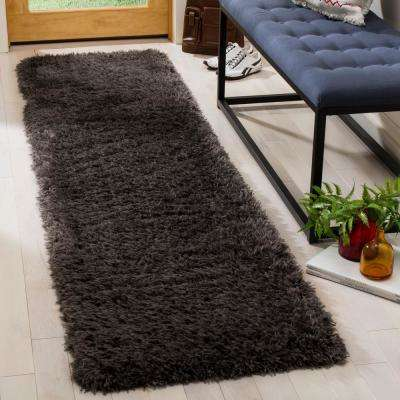 Flokati Charcoal 2 ft. x 8 ft. Runner Rug