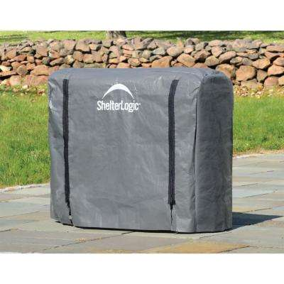 4 ft. W x 3 ft. H x 1 ft. D Universal Full-Length Firewood Rack Cover with 2-Zipper Closure and Anti-Fungal Properties