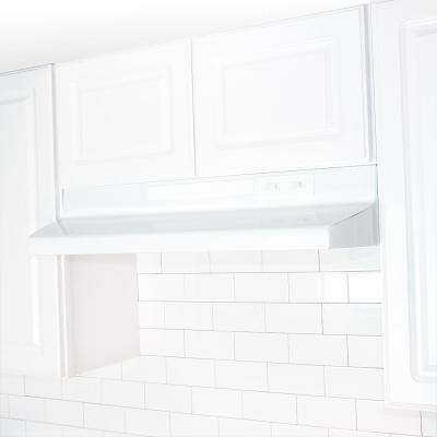 24 in. Convertible Range Hood in White