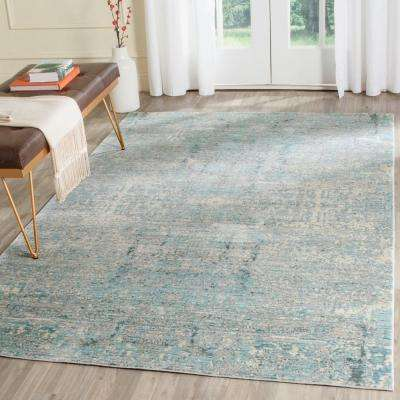 Mystique Teal/Multi 8 ft. x 10 ft. Area Rug