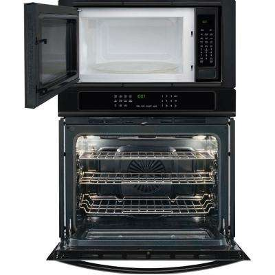 30 in. Electric Convection Wall Oven with Built-In Microwave in Black