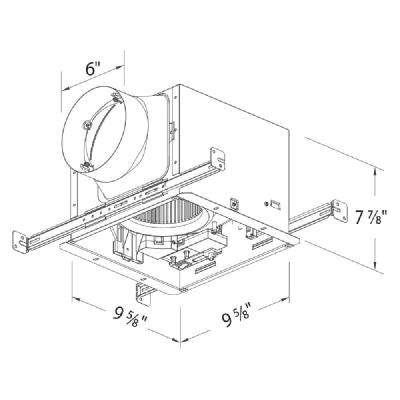 Signature 80/110 CFM Adjustable Speed Ceiling Exhaust Bath Fan with LED Light and Humidity Sensor