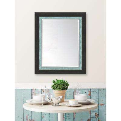 30 in. x 36 in. Slate Black Large and French Blue Mirror